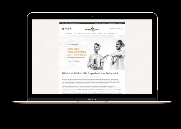 Schalk Mühle Website Startseite